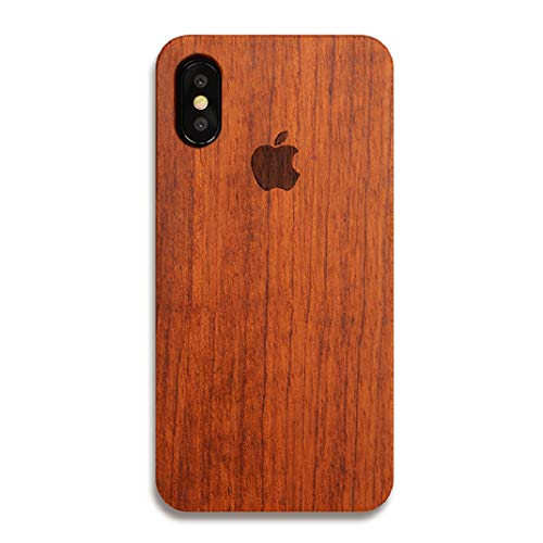 Nurbo iPhone XR Case, Creative Unique Design Natural Carved Wood Wooden Hard Case for iPhone XR 6.1 inch Version