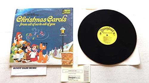 Walt Disney Presents Christmas Carols From All Of Us To All Of You - Disneyland Records 1973 - A Used Vinyl LP Record - 1973 Mono Pressing 1354 In Shrink Wrap With Rare Insert