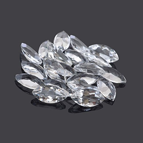 Natural White Topaz 5x10mm Faceted Cut Marquise 25 Pieces Top Quality Loose Gemstone