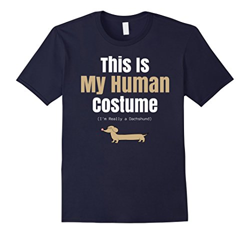 Funny Dachshund Costumes (Mens Funny Dachshund Halloween T Shirt for Human Costume Parties XL)