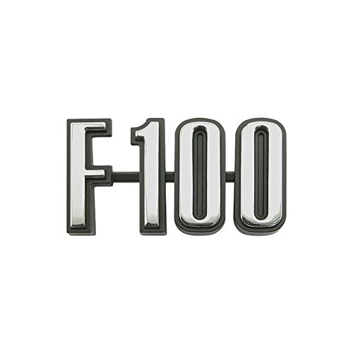 MACs Auto Parts 48-46214 Pickup Truck Cowl Side Nameplate - F100 - - Emblem Cowl