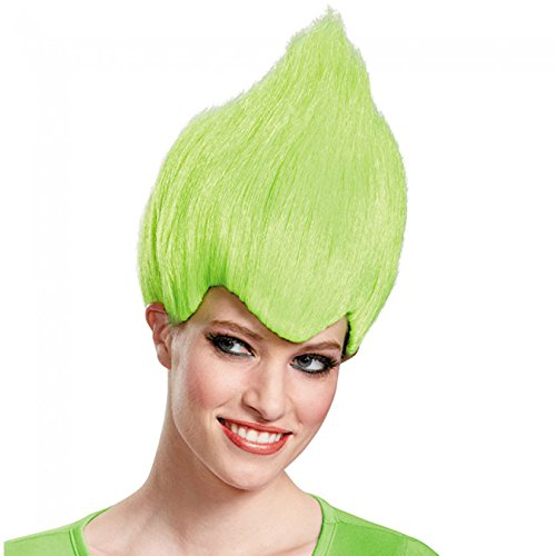 Disguise Wacky Adult Wig Color-One (Green Troll Wig)