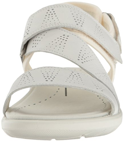 50874white Donna ECCO 5 Wei Soft Sandali White Sandal ffY1Iq