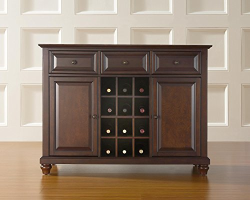 Crosley Furniture Cambridge Buffet Server/Sideboard Cabinet with Wine Storage, Vintage Mahogany (Buffet Wine Cabinet compare prices)