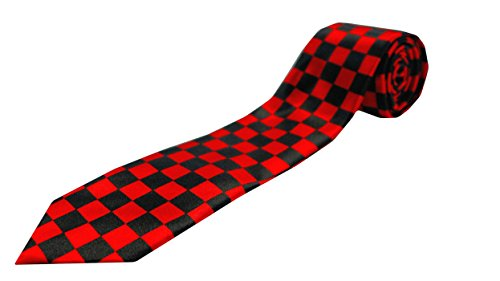 Red and Black Checkered Tie ()