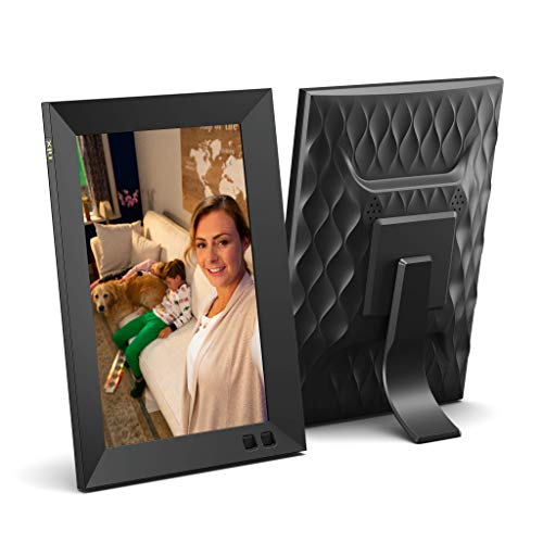 Black Digital Picture Frame with IPS Display Motion Sensor USB and SD Card Slots Remote Control 8 Inch Digital Photo Frame