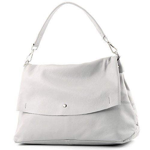 bandoulière Italy main sac à nappa sac Sac de sac femme cuir à IT40 modamoda Made italien cuir Grau sac in t678zwq