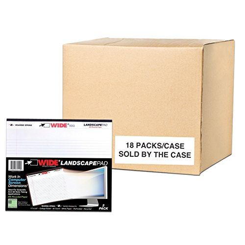 Case of 18 Packs of Landscape Note Pads, 11