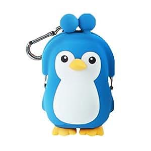 Amazon.com: 3d Pochi Amigos Pingüino Silicona cartera, Azul ...