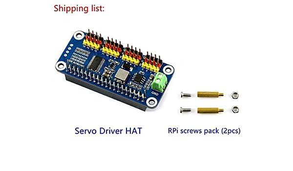Lotus Servo Driver Hat for Raspberry Pi Zero/Zero W/Zero WH/2B/3B ...