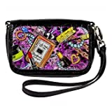 Cell Phone Case Wristlet- Black- Cosmetics