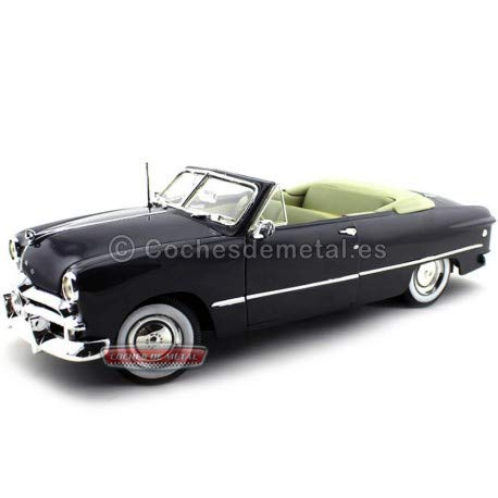 Maisto 31682METBL 1949 Ford Convertible Metallic Blue 1/18 Diecast Model Car ()