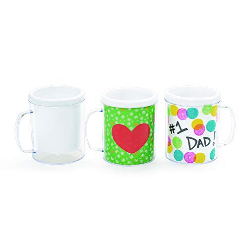 Colorations Design Your Own Mugs Art Project for Kids Pack of 12 Arts and Crafts Project -