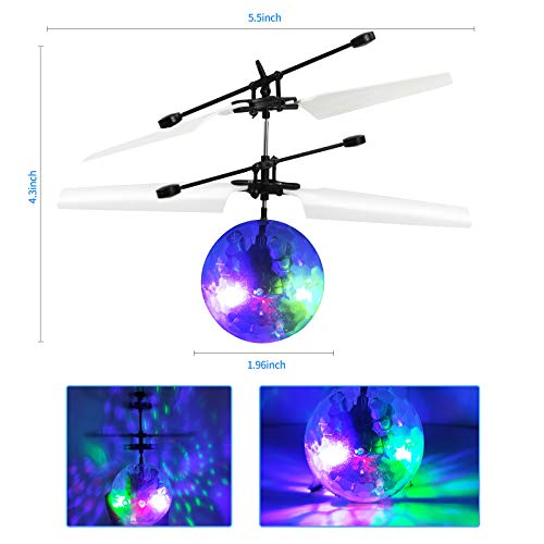 Flying Ball Toys, RC Toy for Kids Boys Rechargeable Light Up Ball Drone Infrared Induction Helicopter with Remote…