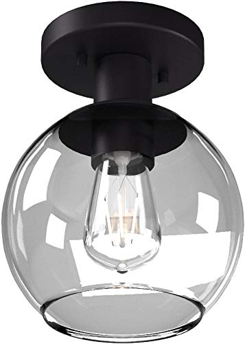 Rivet Mid-Century Flush-Mount with Bulb, 8.875''H, Black by Rivet (Image #6)