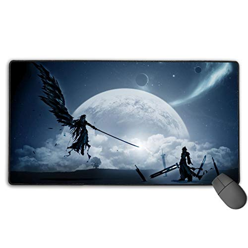 Final Fantasy VII-Cloud Vs Sephiroth Non-Slip Mouse Pad Rectangle Rubber Gaming Mouse Pad Anime Mouse Pad 30x15.7 Inch(75x40 cm) (Mouse Fantasy Final)