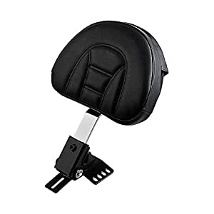 "Adjustable Rider Driver Backrest Pad for 1997-2017 Harley Touring (10 5/8"" x 8 1/4"" backrest with pocket)"