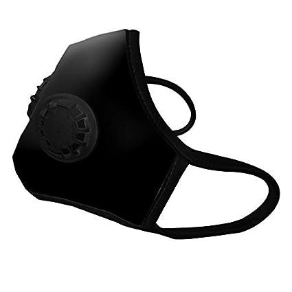 Vogmask | Black N99C2V - Mascara Antipolucion Algodón Organico 2 valvulas y filtro de carbon activado