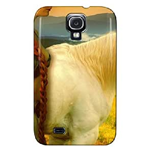 TPU Brown Protective Case For Sumsang Galaxy S4 Horse Maidenredhair Horse Maidenredhair