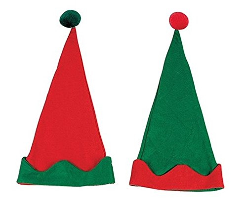 [12 PACK - Elf Hats - Christmas Costumes & Accessories & Costume Accessories] (Snowman Costume Hat)