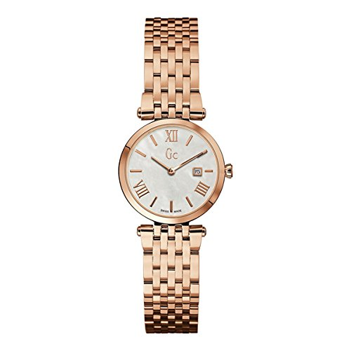 Guess Collection X57003L1S 28mm Gold Plated Stainless Steel Case Rose Gold Gold Plated Stainless Steel Synthetic Sapphire Women's Watch
