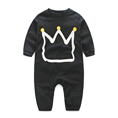TIFENNY Newborn Baby Boys Girls Print Romper Jumpsuit Bodysuit Clothes (24M)