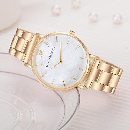LtrottedJ Lvpai Women's Watch,Steel Belt Quartz Wrist Watch ()