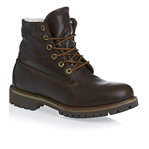Uomo Timberland AF Roll Top Pelle Pizzo Pelliccia Inverno Stivaletti Brown