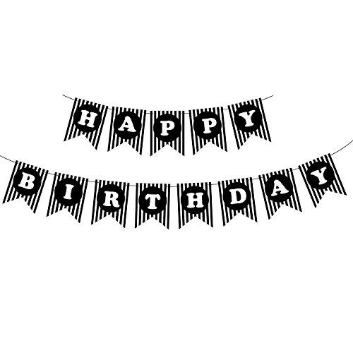 Azude Black Birthday Party Banner -