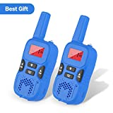 Dr.fasting Walkie Talkies for Kids, Wireless Interphone 22 Channel FRS/GMRS 2 Way Radio 2 Miles (up to 3 Miles) UHF Handheld Walkie Talkies for Kids,Business Outdoor Use(1 Pair) (Blue) (Blue)