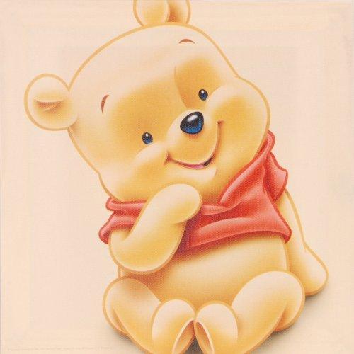 8 X Wandbild Auf Leinwand Von Baby Winnie Pooh Tigger Iaah Und Ferkel Je 25 X 25 Cm Disney Kunstdruck Auf Holz Rahmen