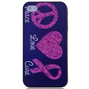 CL - Amor del Corazón y Riband Patrón de nuevo caso para el iPhone 4/4S