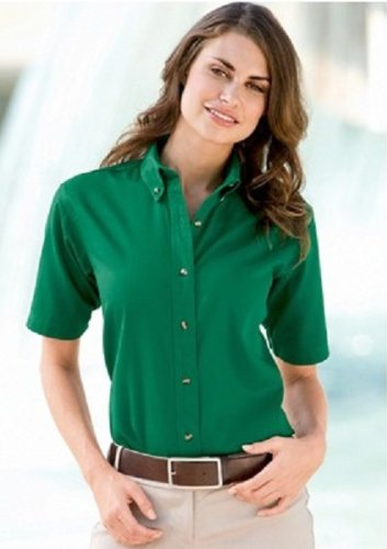 Fitness Etc. Half Sleeve Button down Shirt for Women at Amazon Women s  Clothing store  Blouses 82fd01cdf