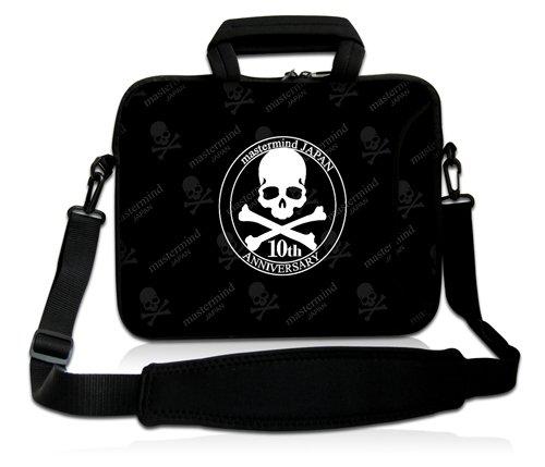 Luxburg® Design Funda bandolera Blanda Bolso Sleeve para Ordenador Portátil / MacBook de 17,3 pulgadas, motivo: Peces de colores Calavera 2