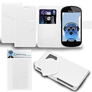 iTALKonline Lenovo LePhone S2Super Slim Executive funda de piel tipo libro de piel sintética con tapa organizador con Credit/Titular De La Tarjeta de visita–ventosa diseño, compatible con Lenovo LePhone S2