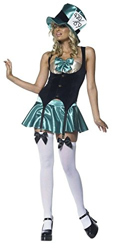 Tea Party Hostess Sexy Costumes (GTH Women's Tea Party Hostess Wonderland Outfit Fancy Dress Sexy Costume, S/M (2-8))