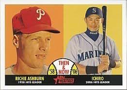 2007 Topps Heritage Then and Now #TN7 Richie Ashburn/Ichiro Suzuki