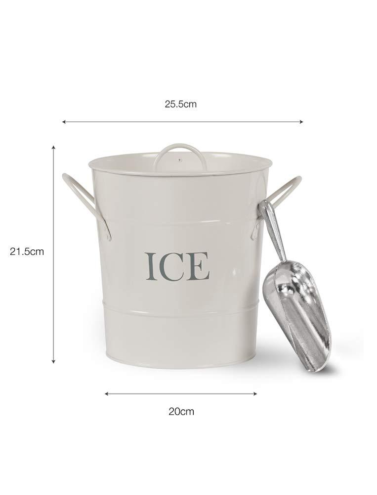 Garden Trading Sceau /à glace avec pelle Craie