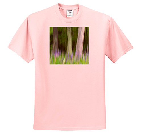 3dRose Danita Delimont - Abstracts - Abstract Artistic Blur Of Trees and Lupine Blossoms. USA, Wisconsin. - T-Shirts - Light Pink Infant Lap-Shoulder Tee (12M) (TS_279800_72) (Blossom Island Light)