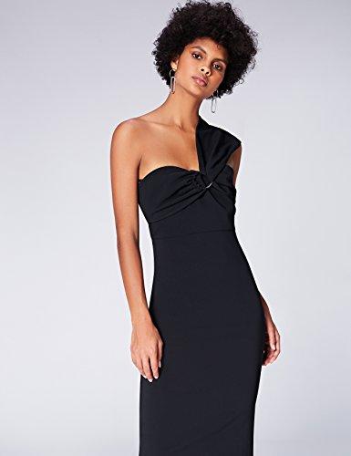 Find schwarz Negro Asimétrico Mujer Midi Vestido rTnqXgr