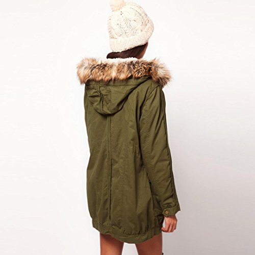 Invierno Mujeres Larga Jersey verde Talla Pare las de Chaqueta Encapuchada Logobeing Abrigo Mujer de ejercito 6qZUXW4ct