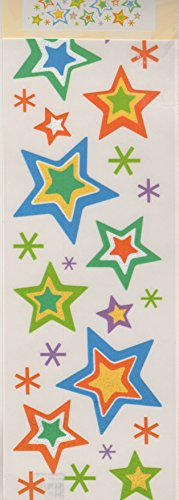 Stars Glitter Rub-ons for Scrapbooking (004763)