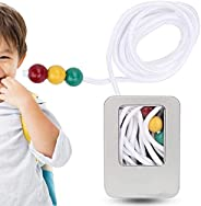 Brock String, Vision Convergence Training Tool with 3 colors beads, protect the eyes, Sight Focusing Training