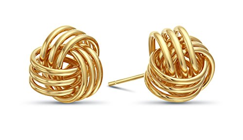 14k Yellow Gold Love Knot Stud Earrings 14k Yellow Gold Knot Earrings