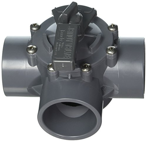 Jandy 2875 3-Port 2 to 2-1/2-Inch Positive Seal Pump Valve, Gray