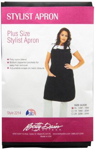 A Size Above Plus Size Salon Stylist Apron, Black, XL
