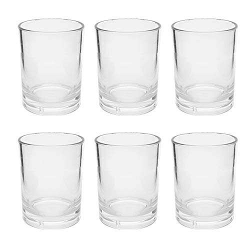 First Design Global DRS0319 Clear Acrylic DOF Glasses, Decorative Drinkware for Weddings, Birthday Parties, and Everyday Use, 14 oz, Set of 6,
