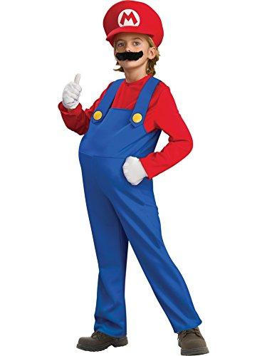 [Super Mario Brothers, Deluxe Mario Costume, Medium] (Kids Mario Costumes)