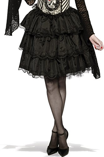Rubie's Women's Ruffle Costume Skirt, Black, One (Ruffle Vampiress Costumes)