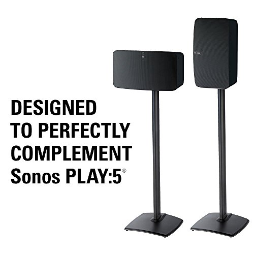 Sanus Speaker for Sonos Play:5 Enhancing Design & Built-in Cable and Premium Materials WSS51-B1